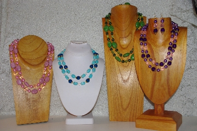 Bead Necklaces: Unique  2 Strand Bead Necklace & Earring Sets