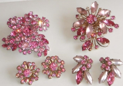"Vintage Antique Costume Fashion Jewelry  ""Brooch & Earring Sets & Pin & Earring Sets"""