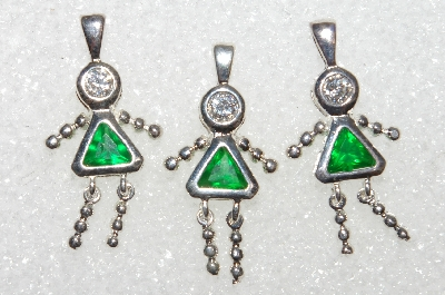 Sterling Jewelry: 1980's Sterling & Gold Plated Birthstone Pendants