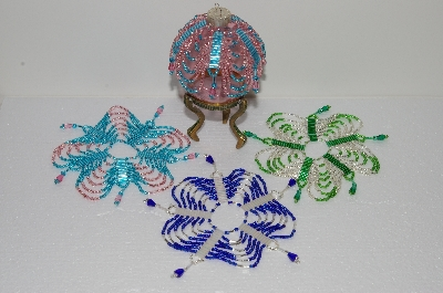 Beautiful Hand Beaded Christmas Ornament  Covers & Ornaments