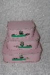 "**MBAMG #79-070  ""Set Of 3 Pink Nesting Baby Doll Suitcases"""