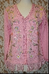 "+MBA #8009  ""StoryBook Knits Limited Edition Pink Ribbion Trimmed Sweater"