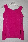 "MBAMG #79-037  ""George Simoton Hot Pink Open Shouldered Knit Top"""