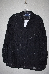 "**MBAMG #79-082  ""Susan Graver Black Burnout Shirt With Butterknit Tank"""
