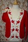 "+MBA #7993   ""StoryBook Knits Limited Edition ""Red"" Bird & White Sweater"