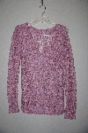 "*MBAMG #79-093  ""Newport News Pink Crochet Pullover Sweater With Corchet Flowers"""