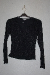"**MBAMG #79-194  ""One Clothing Black Stretch Eyelet Top"""