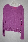 "**MBAMG #79-107  ""Thalia Mauve Pullover Top With Embroidered Hem"""