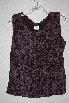 "MBAMG #79-060  ""Citiknits Brown Floral Knit Tank"""