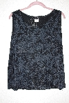 "MBAMG #79-103  ""Citiknits Black Floral Stretch Tank"""