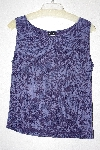 "MBAMG #79-101  ""Citiknits Purple Floral Stretch Tank"""
