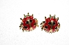 "+MBAMG #79-130  ""Vintage Enameled Ladybug Earrings"""