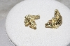 "**MBAMG #79-048  ""14K Yellow Gold Italian Made Crocodile Artform Earrings"""