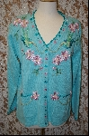 "+MBA #7980   ""StoryBook Knits Limited Edition Turquoise Blue Bird Sweater"