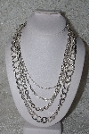 "MBAMG #11-769  ""Silvertone 4 Strand Necklace"""