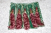 "**MBAMG #11-1178  ""Set Of 5 Mauve Decorative Christmas Tassels"""