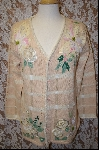 "+MBA #7974   ""StoryBook Knits Limited Edition Poinsettia & Rose Cream Colored Sweater"