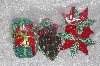 "+MBAMG #11-0675  ""Set Of 6 Hand Quilted Christmas Ornaments"""