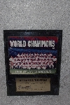 "**MBAMG #11-0729  ""1995 Atlanta Braves World Series Plaque"""