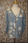 "+MBA #7968  ""StoryBook Knits Limited Edition Grey Floral Sweater"