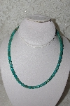 "**MBAMG #11-893  ""Blue Turquoise Bead Necklace"""