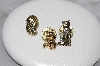 "MBAMG #11-0944  ""Set Of 3 Gold Plated Cat Pins"""