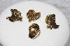 "**MBAMG #11-0942  ""Set Of 4 Gold Plated Western Pins"""