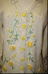 "+MBA #7960   ""StoryBook Knits Limited Edition Light Yellow Floral Sweater"