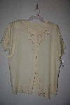 "MBAMG #11-1196  ""Jane Ashley Yellow Fancy Rayon Embroidered Top"""