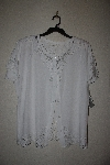 "MBAMG #11-1200  ""Jane Ashley White Rayon Fancy Embroidered Top"""