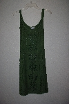 "MBAMG #12-035  ""Kaa Ku Army Green Embroidered Summer Dress"""