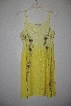 "MBAMG #12-027  ""Kaa Ku Yellow Embroidered Summer Dress"""