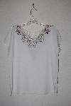 "MBAMG #12-002  ""Surya White One Of A Kind Hand Embelished Top"""