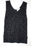 "MBAMG #12-068  ""Louis Dell'Olio Black Stretch Ribbed Sweater Tank"""