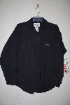 "MBAMG #11-1082  ""Jordache Black Cotton Dress Shirt"""