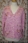 "+MBA #7929   ""StoryBook Knits Limited  Edition  Multi Pink Charm Sweater"