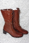 "**MBAMG #11-1001  ""Boston Proper Fancy Brown Fennell Boots"""