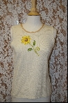 "+MBA #7925  ""StroyBook Knits Pale Yellow Daisy Tank"