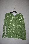 "MBAMG #76-012  ""Susan Graver Bright Green Fancy Metallic Thread T"""