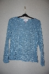 "MBAMG #76-056  ""Susan Graver Sky Blue Fancy Metallic Thread T"""