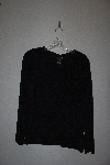 "MBAMG #76-005  ""Citiknits Black Solid V-Neck Long Slever Top"""