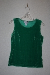 "MBAMG #76-034  ""J.G. Hook Green Stretch Velvet Tank"""