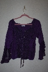 "MBAMG #76-002  ""Encounter Fancy Embroidered Purple Top"""