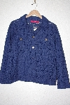 "**MBAMG #76-104  ""Carina Blue Eyelet Button Front Jacket"""