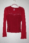 "MBAMG #76-027  ""Check Fancy Red Stretch Top"""