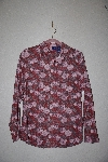 "MBAMG #76-020  ""Basic Editions Fancy Floral Moleskin Shirt"""