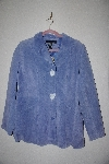 "**MBAMG #76-172  ""Dialogue Blue Suede 2 Way Stretch Jacket"""