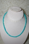 "**MBATQ #1-1037  ""Sky Blue Turquoise Bead Necklace"""