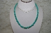 "**MBATQ #1-1040  ""Blue Turquoise Bead Necklace"""