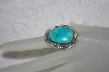 "**MBATQ #1-1136  ""Artist Signed Blue Turquoise Ring"""